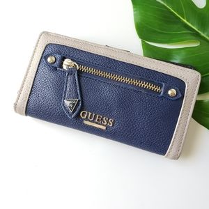 Guess navy blue bifold card and cash wallet